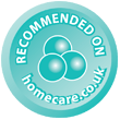 Recommended on homecare.co.uk image
