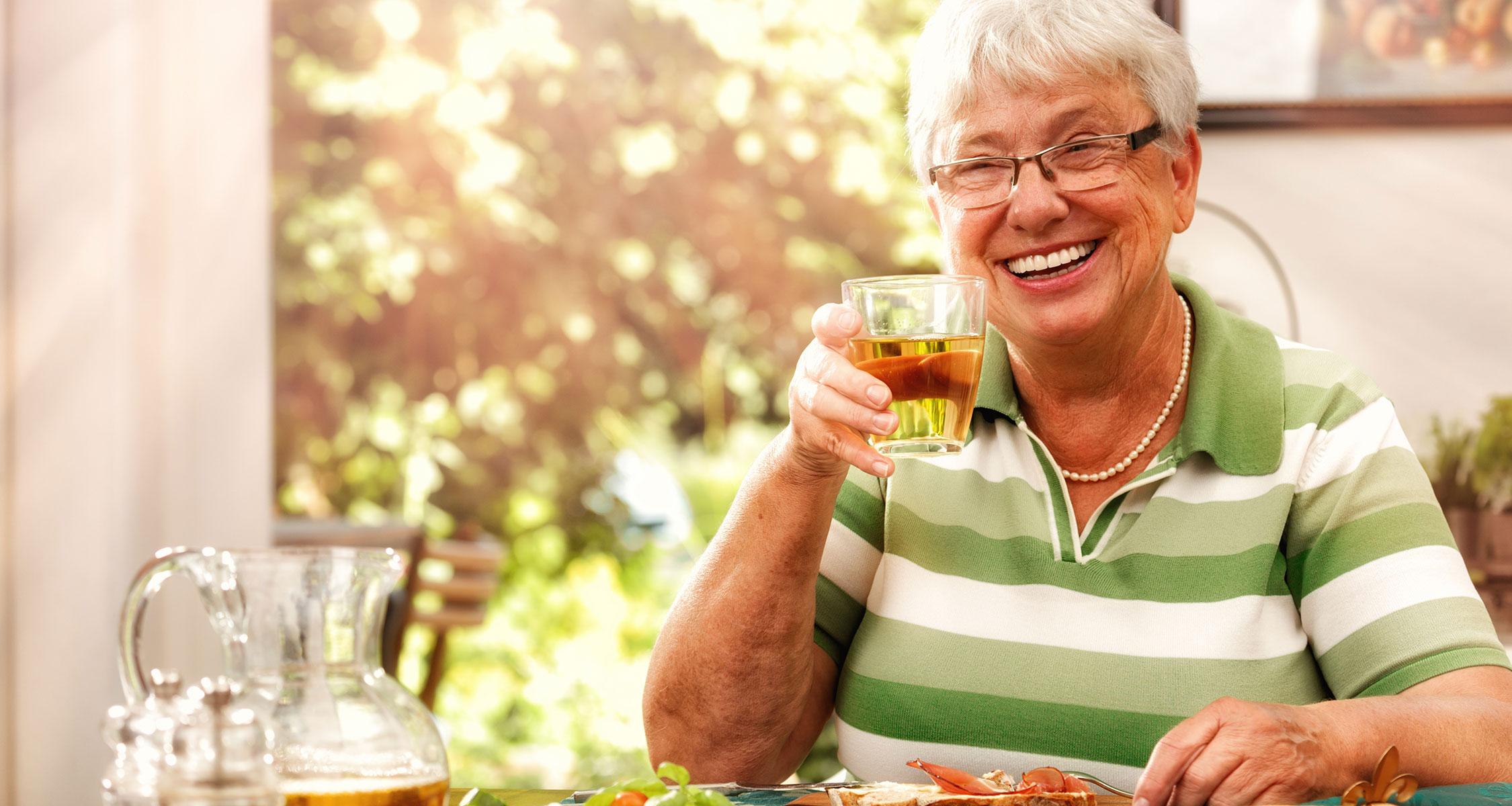 adult care - enjoying cup of tea